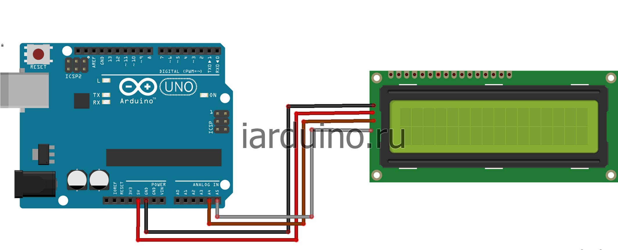 LCD and Arduino Arduino Pinterest Electrnica