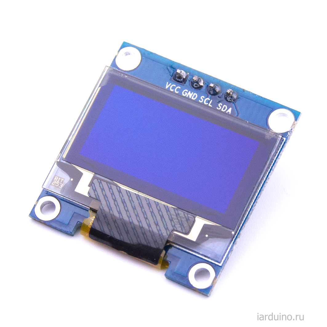 I2C 096 OLED 128x64- BlueYellow :Elecrow bazaar