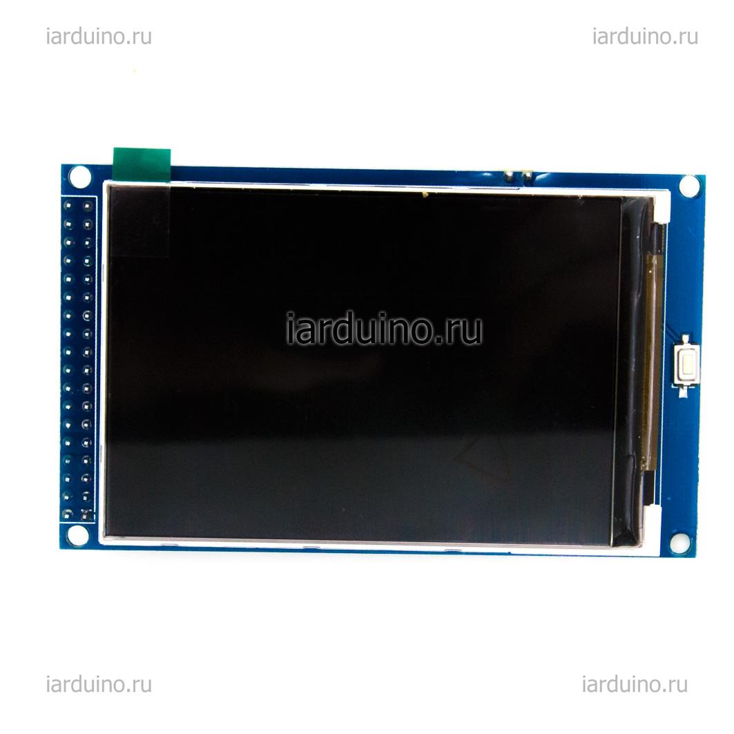 Цветной графический дисплей 3.5 MEGA TFT 480x320 для Arduino ардуино