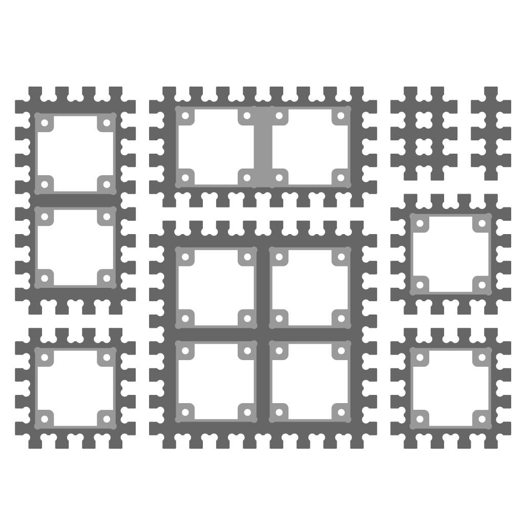 Крепления Trema (конструктор ПВХ) для Arduino ардуино
