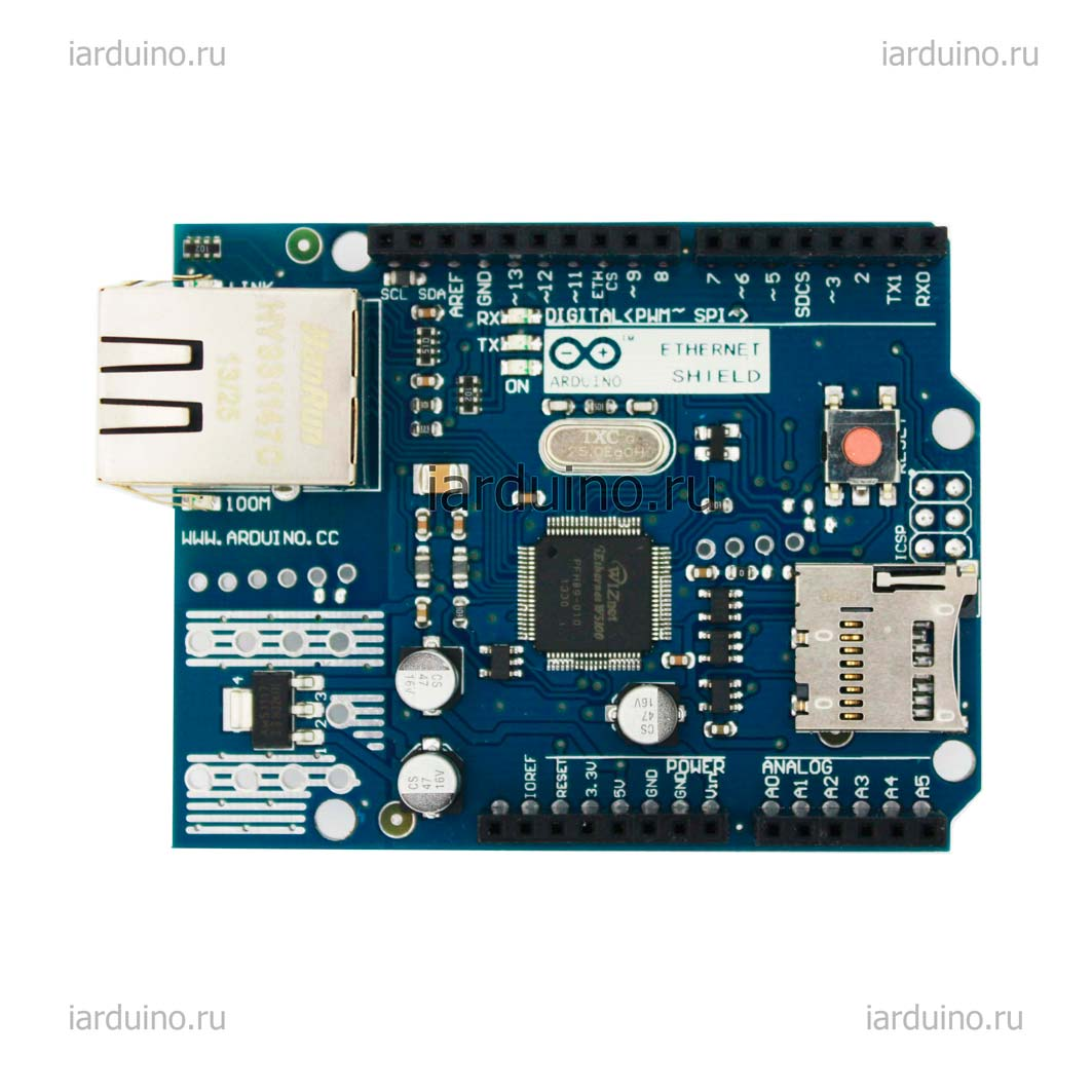 Ethernet W5100 R3 SHIELD для Arduino ардуино