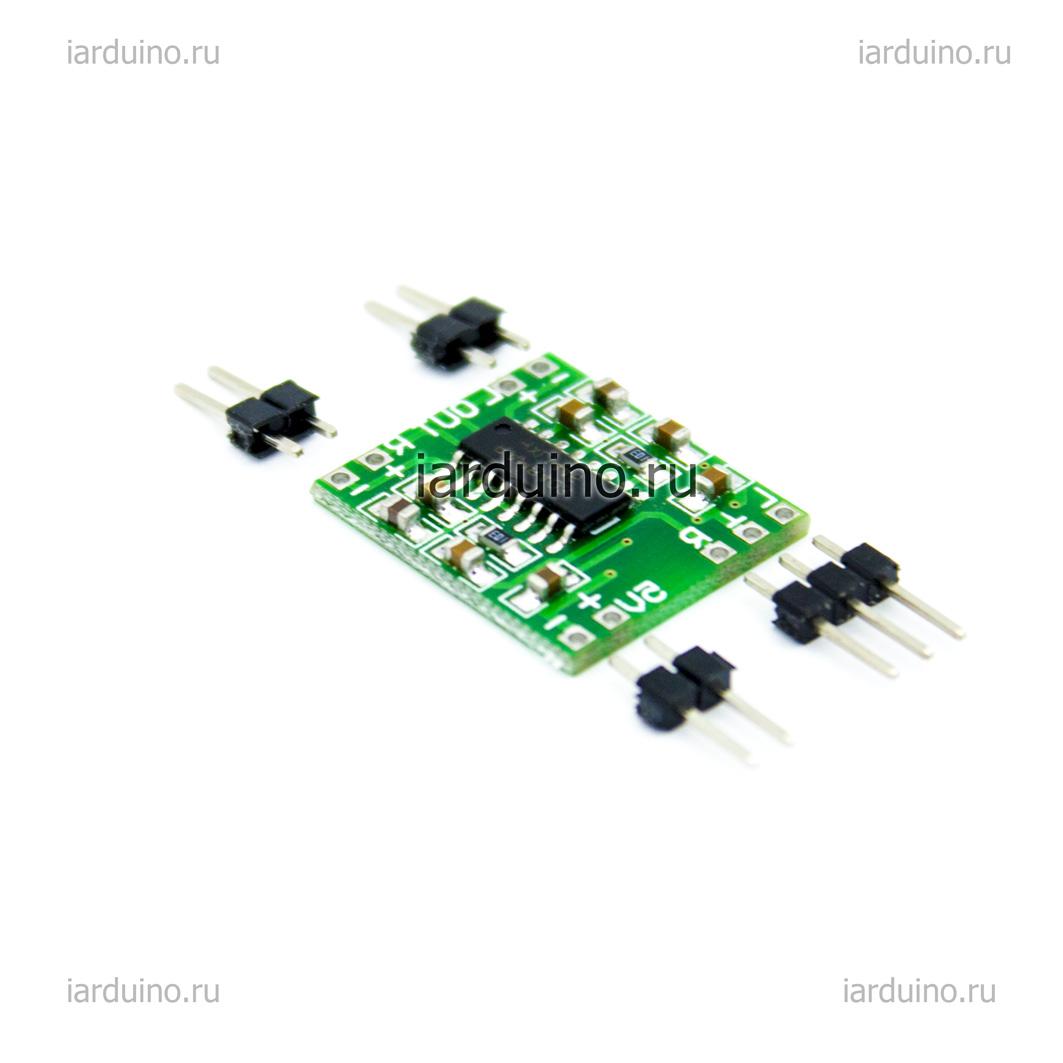 Мини аудио усилитель 2*3 Вт класса D PAM8403  для Arduino ардуино