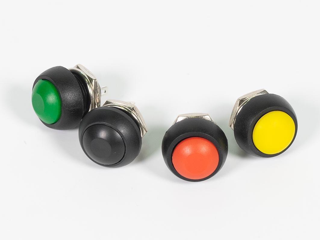 Корпусная кнопка, желтая для Arduino ардуино