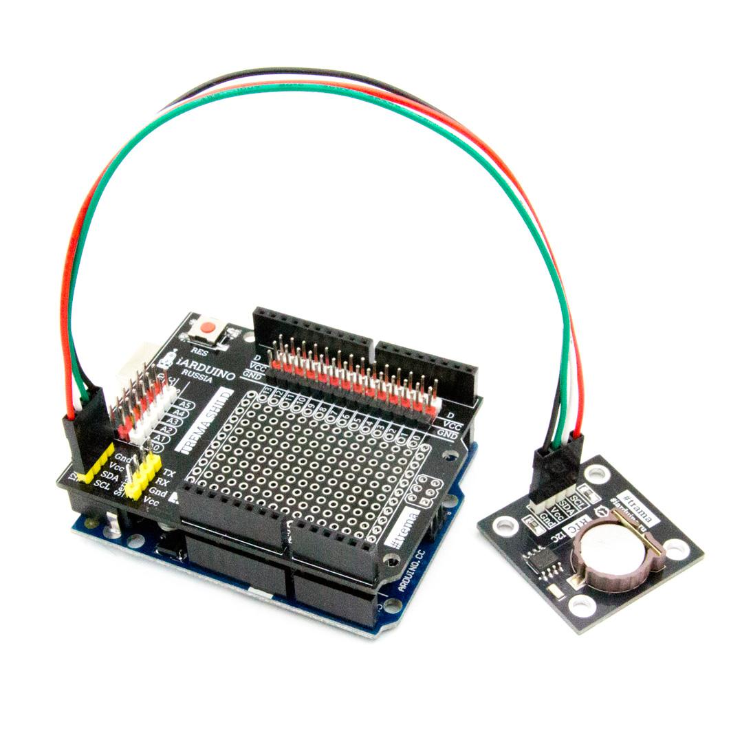 Часы реального времени, RTC (Trema-модуль) для Arduino ардуино