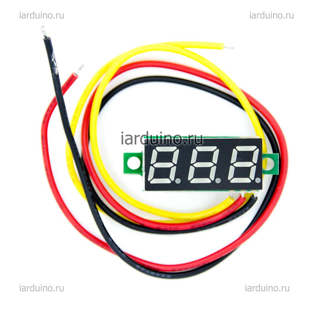 Цифровой вольтметр 0-100v DC для Arduino ардуино