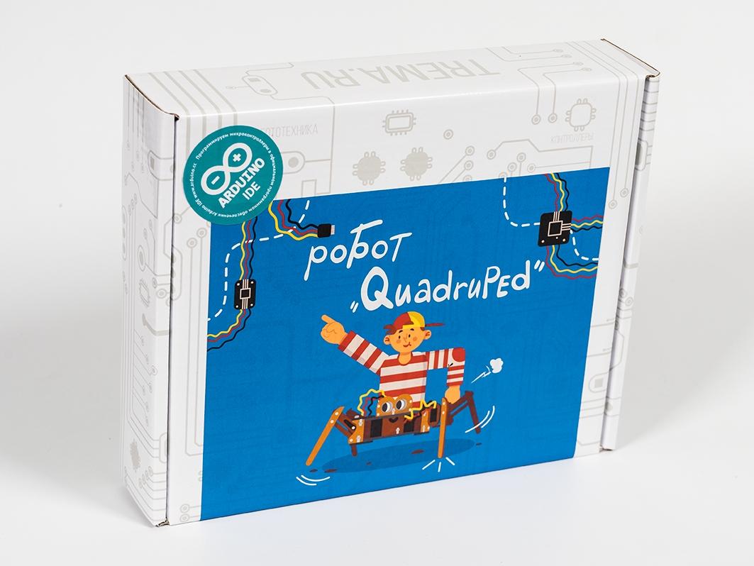 Робот «QUADRUPED» - полный набор для Arduino ардуино
