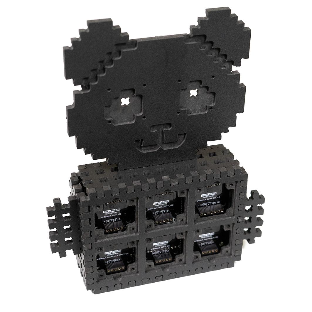 Корпус Set Box (конструктор ПВХ), black для Arduino ардуино