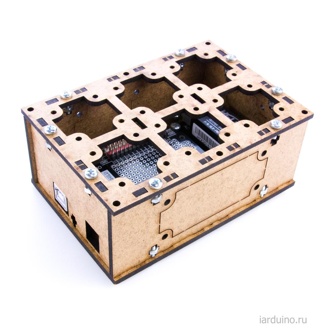 Комплект конструктора, с закрытыми стенками #TremaBox для Arduino ардуино