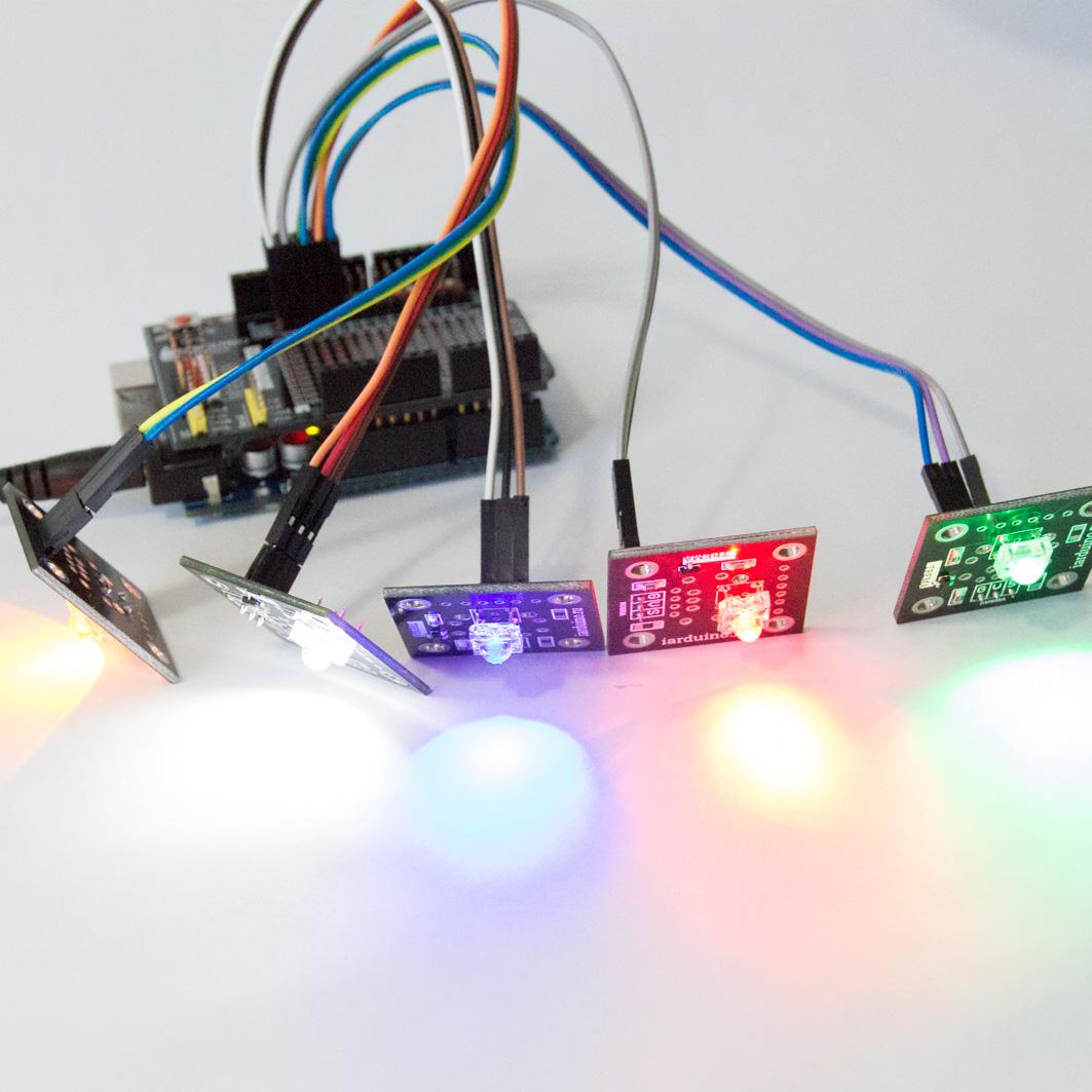 Светодиод - белый (Trema-модуль) для Arduino ардуино