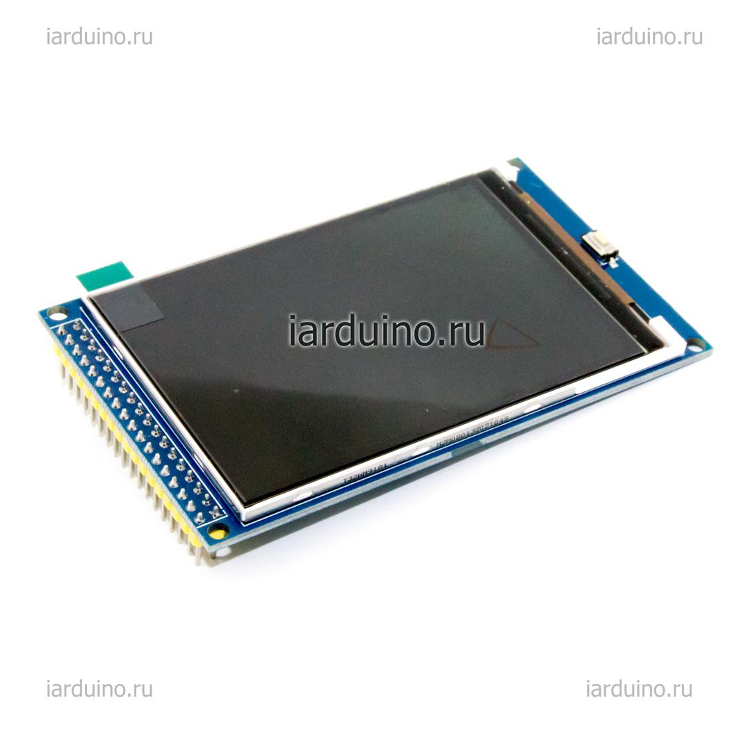 Цветной графический дисплей 3.2 MEGA TFT 480x320 для Arduino ардуино