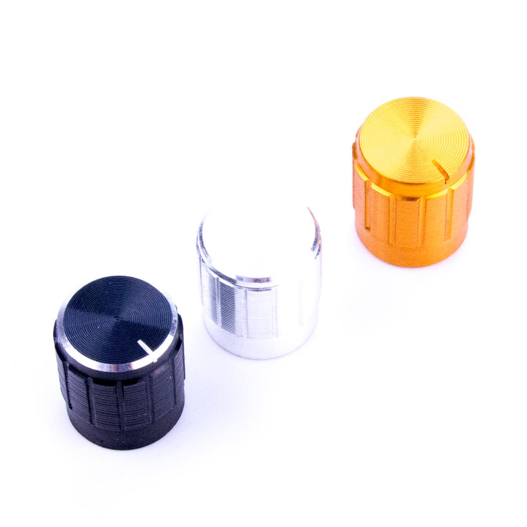 Алюминиевая ручка потенциометра, серебристая для Arduino ардуино