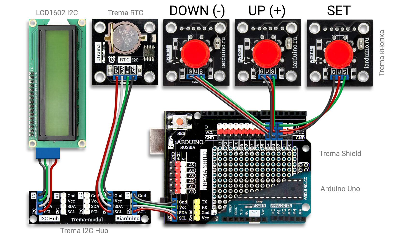 Arduino Nano: DS1302 Real Time ClockRTC With Visuino