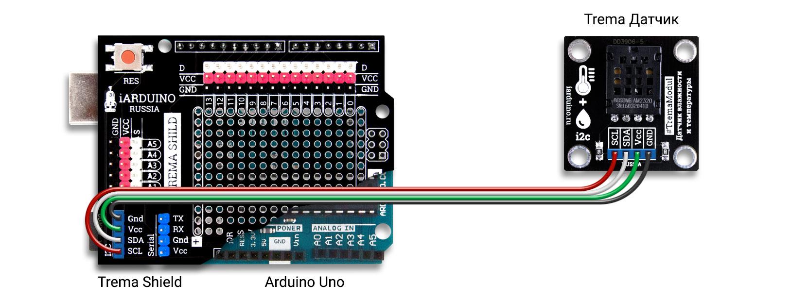 Подключение цифрового датчика температуры и влажности AM2320 к Arduino