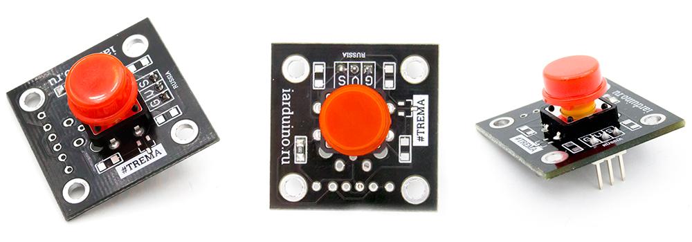 Тактовая кнопка для подключения к Arduino