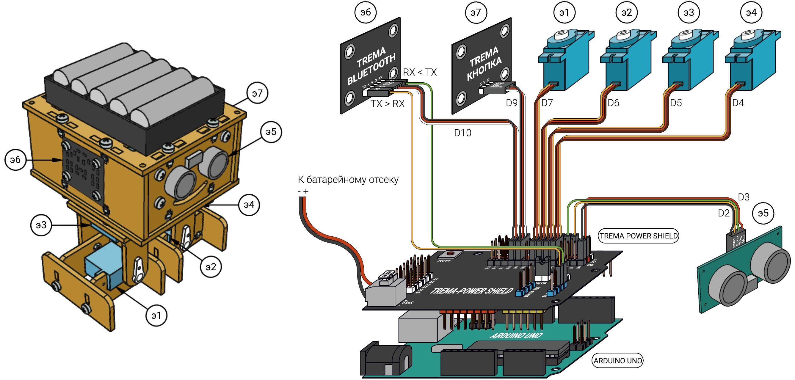 Сборка робота для управления по bluetooth