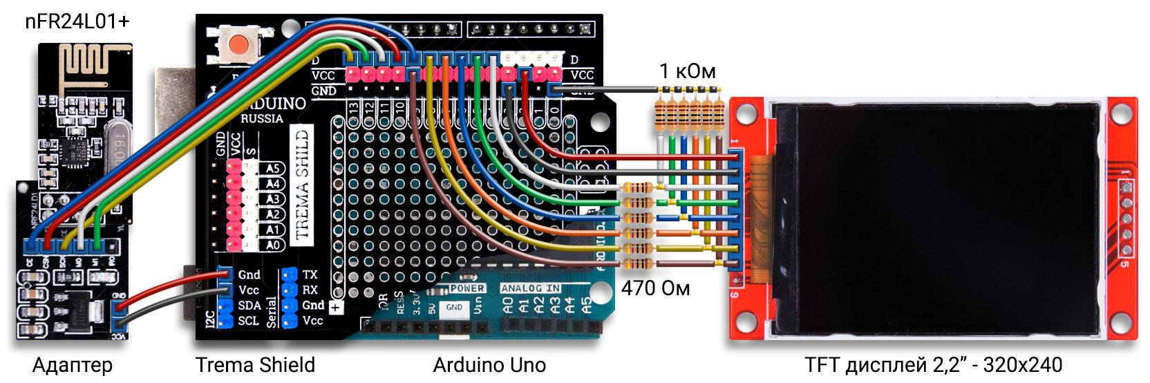 Сканер радиочастот на Arduino Uno