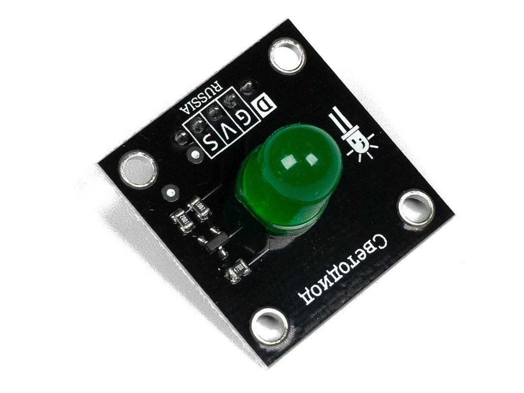 Светодиод 10мм - зеленый