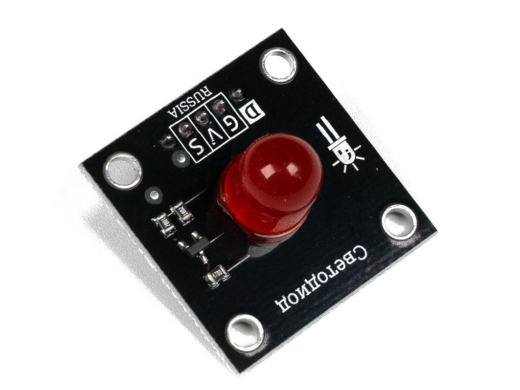 Светодиод 10мм - красный