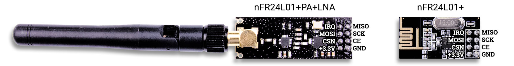 Распиновка nRF24L01 с антенной